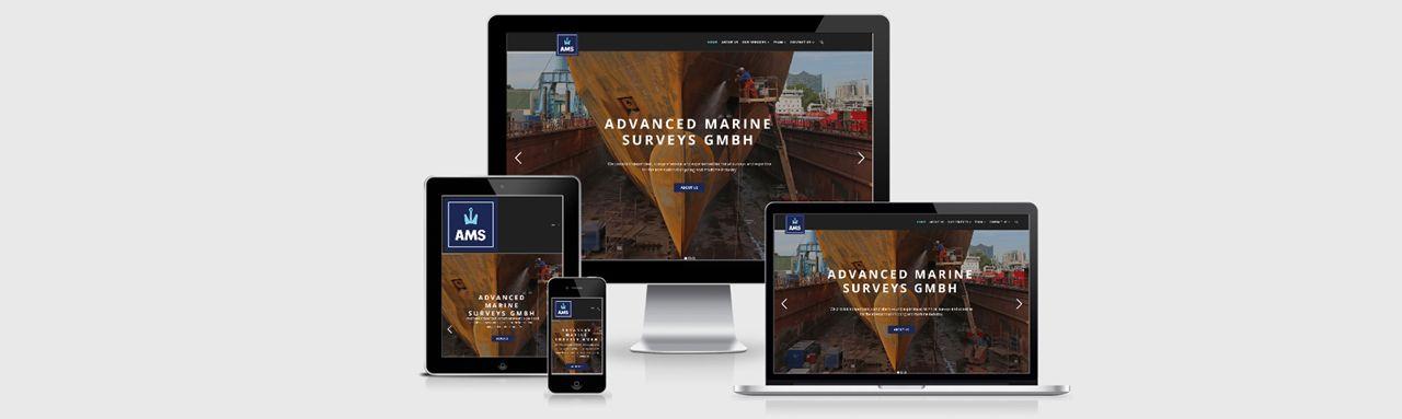 Fotoshooting und Erstellung der Homepage für Advanced Marine Surveys GmbH
