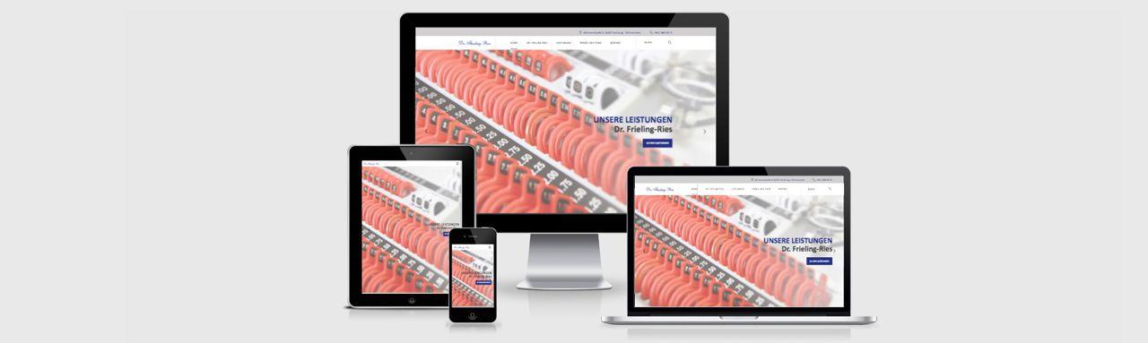 Homepage-Erstellung für Augenärztin Dr. med. Laeticia Frieling-Ries