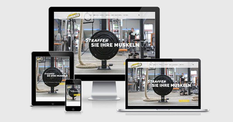 Homepage für Perfect Sports GmbH