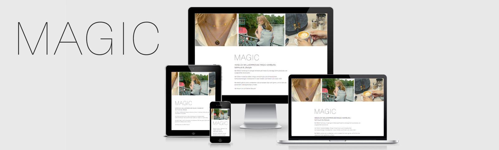 Fotoshooting und Webvisitenkarte für MAGIC Hamburg