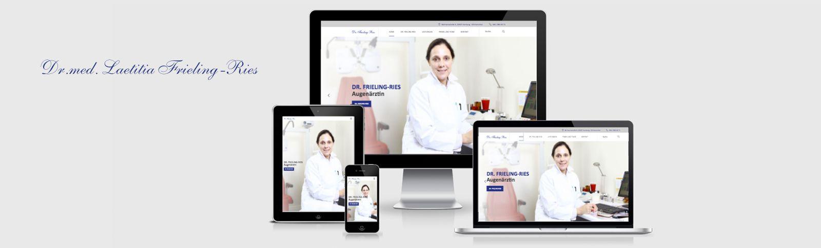 Fotoshooting und Homepage für die Augenärztin Dr. med. Laeticia Frieling-Ries durch Kähler & Kähler