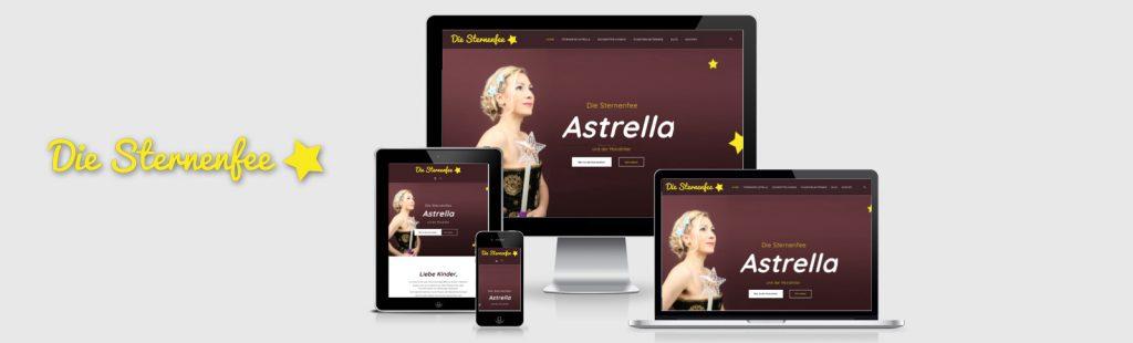 Fotoshooting und Homepage für die Sternenfee Astrella
