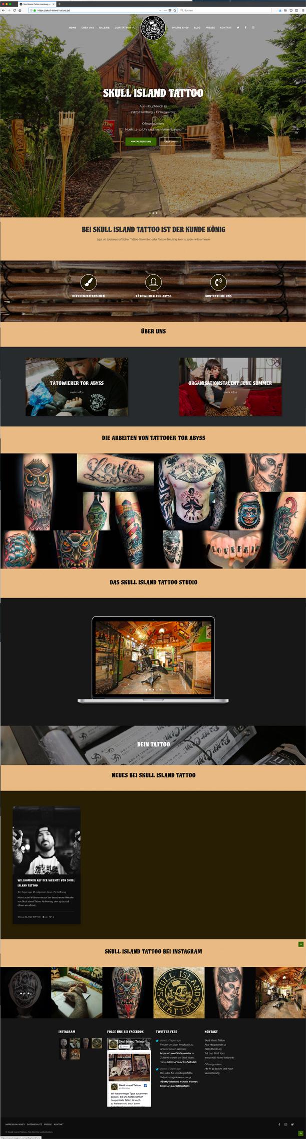Skull Island Tatto