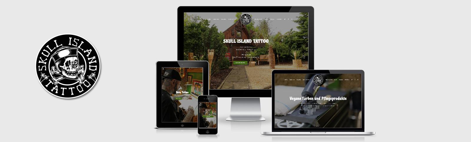 Fotoshooting und Erstellung der Homepage für Skull Island Tattoo durch Kähler & Kähler.