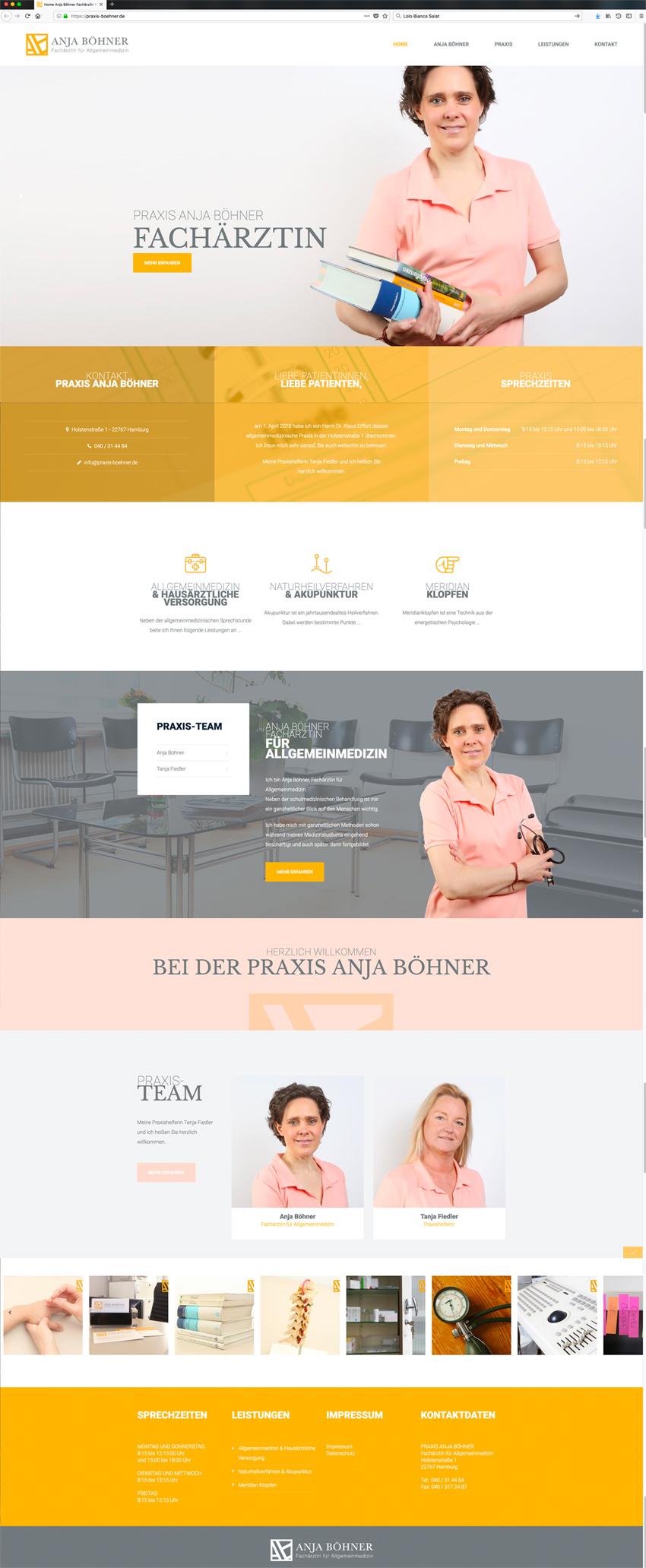 Homepage-Erstellung, Praxis Anja Böhner, Kähler & Kähler