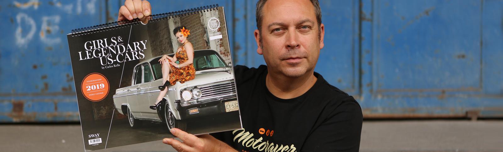 Design, Produktionsabwicklung, Kalender, Girls & legendary US-Cars, Carlos Kella, Kähler & Kähler