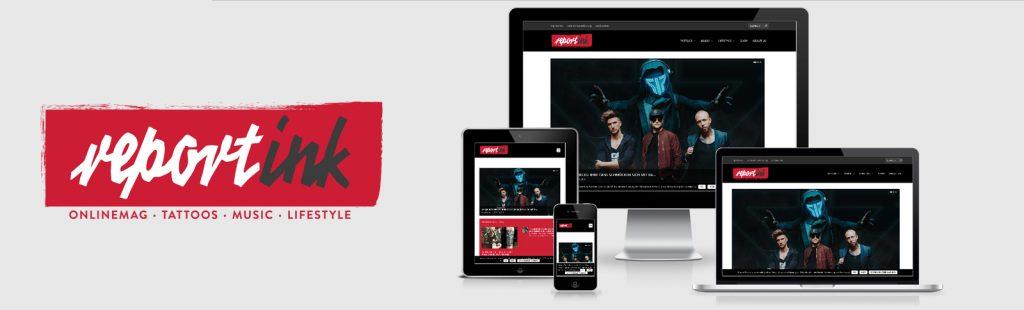 Logo-Entwicklung, Logo-Design, Redesign, Homepage, reportink, Kähler & kähler