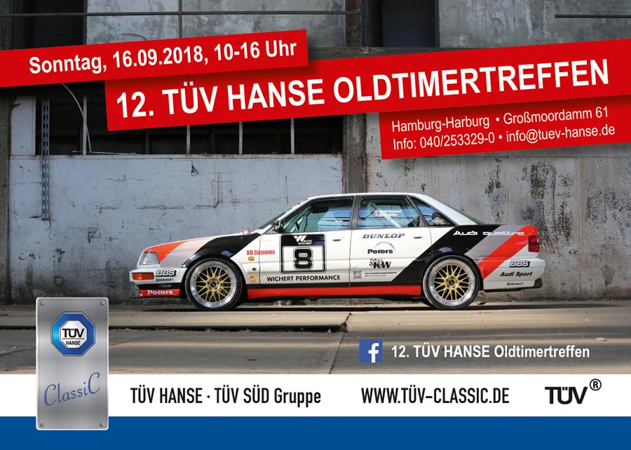 Die Werbemittel für das 12. TÜV HANSE Oldtimertreffen der TÜV HANSE GmbH, erstellt durch Kähler & Kähler. Foto: Carlos Kella