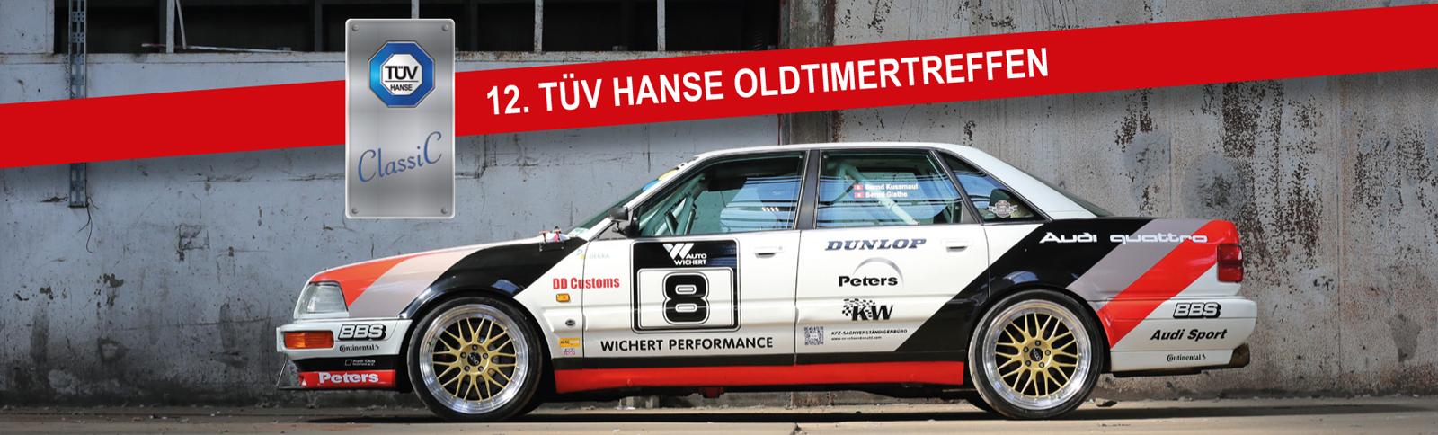 Event-Organisation und Werbemittel für das 12. TÜV HANSE Oldtimertreffen durch Kähler & Kähler