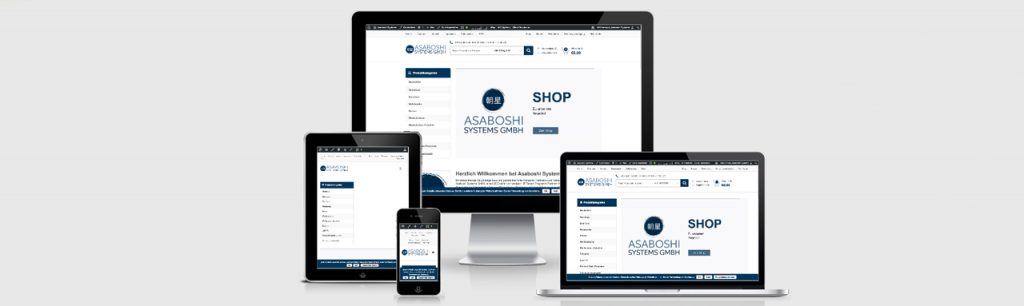 Erstellung des Webshops für Asaboshi Systems durch Kähler & Kähler.