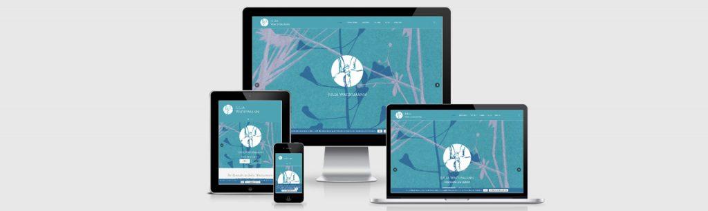 Homepage-Erstellung für Julia Wachsmann