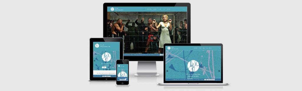 Erstellung der Homepage für die Hamburger Kulturschaffende Julia Wachsmann durch Kähler & Kähler.