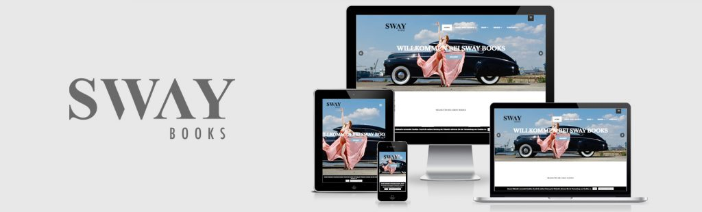 Relaunch des Webshops für den Hamburger Verlag SWAY Books UG durch Kähler & Kähler