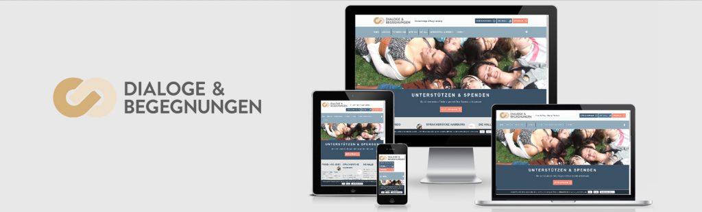 Relaunch der Website für die Gemeinnützige Hamburger Stiftung Dialoge & Begegnungen durch Kähler & Kähler