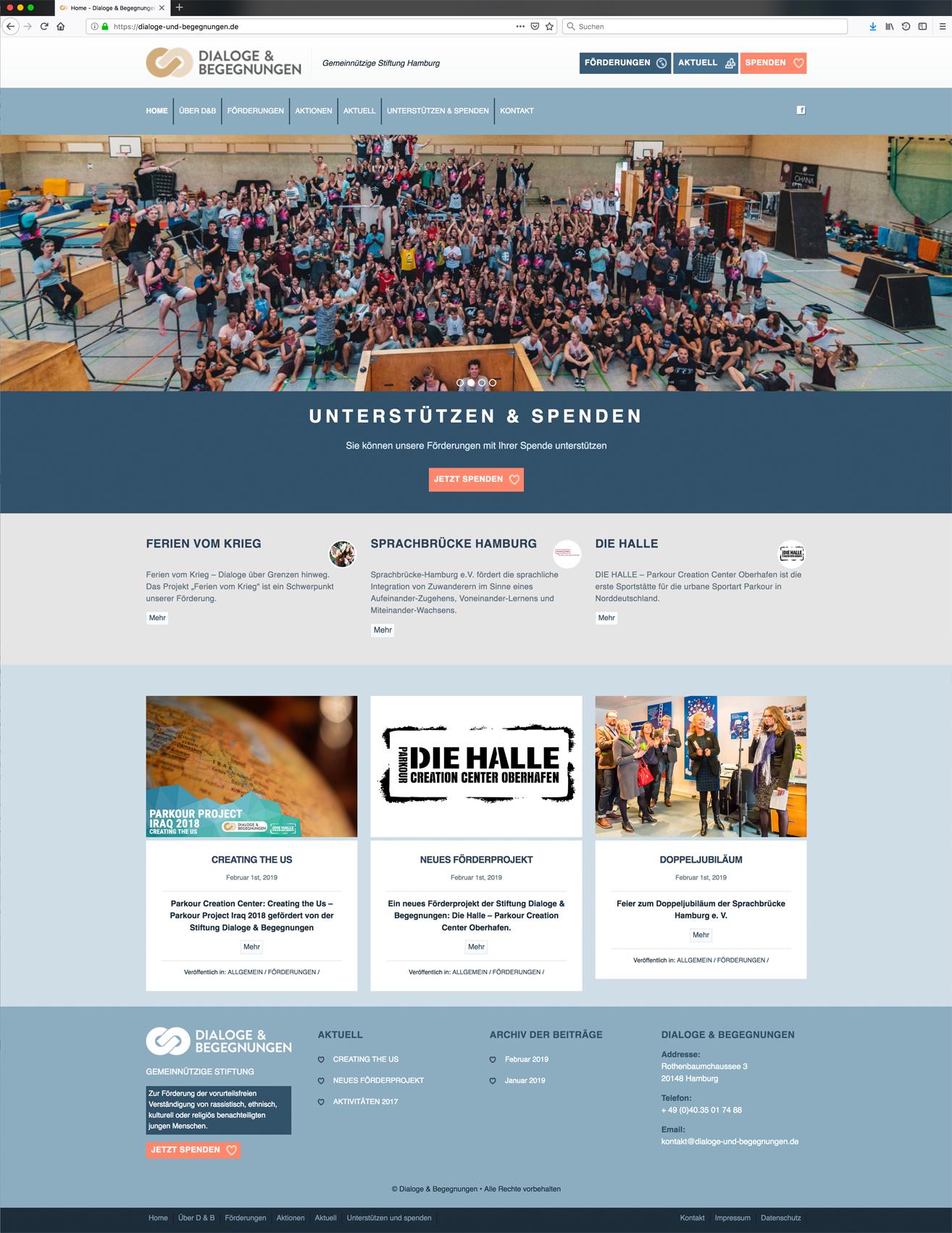 Relaunch der Website für Dialoge & Begegnungen durch Kähler & Kähler