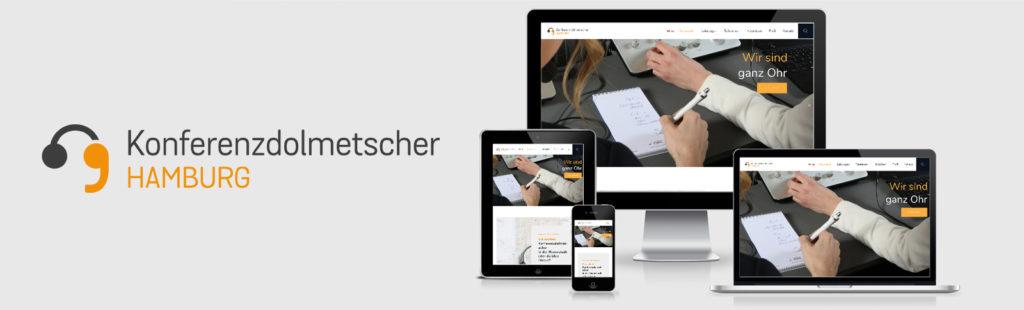 Logo-Entwicklung, Überarbeitung des Corporate Designs, Fotoshooting und Relaunch der Homepage für die Konferenzdolmetscher Hamburg durch Kähler & Kähler.