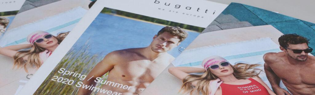 Herstellung der Bademoden-Kataloge Bugatti und Tom Tailor für Okamoto GmbH