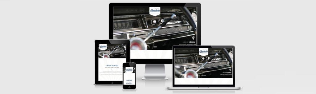 Erstellung der Website für die Chrome Hunters GmbH durch Kähler & Kähler