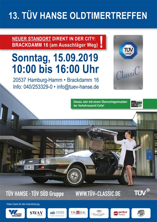 Event-Organisation und Werbemittel für das 13. TÜV HANSE Oldtimertreffen durch Kähler & Kähler