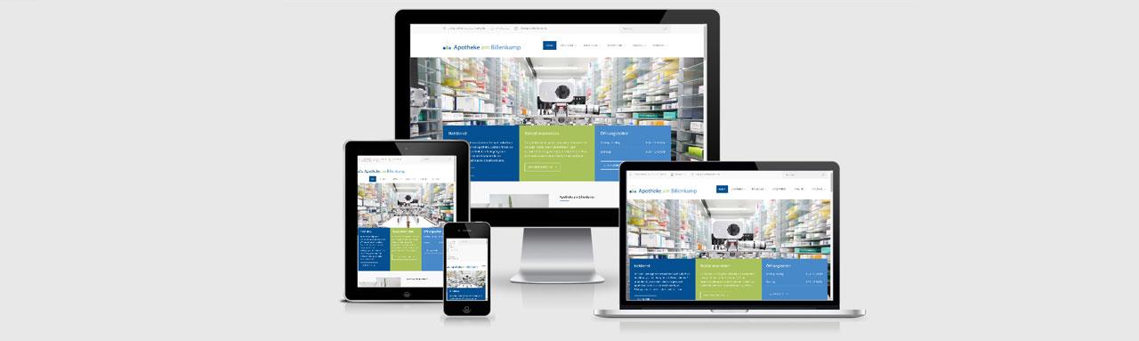 Website für die Apotheke am Billenkamp