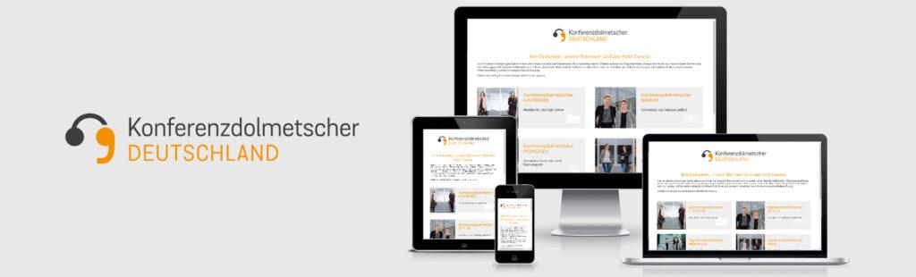 Erstellung der Websites für das deutschlandweite Konferenzdolmetscher Netzwerk durch Kähler & Kähler