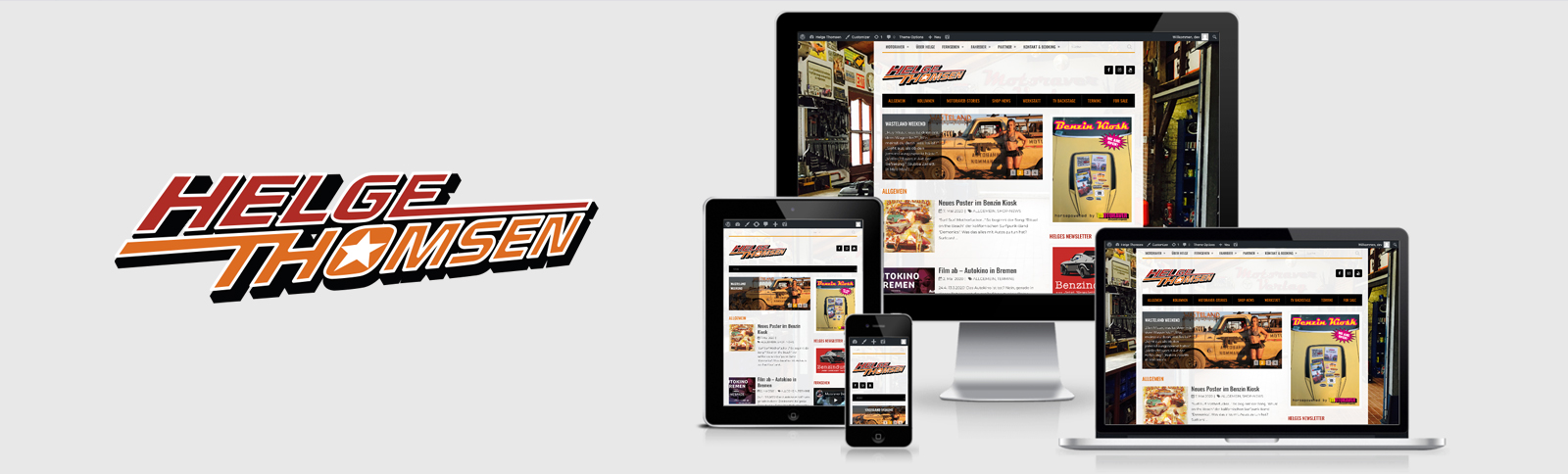 Erstellung der Website für Herausgeber & Experte Helge Thomsen durch Kähler & Kähler